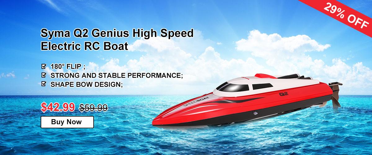 Syma Q2 Genius High Speed Electric RC Boat