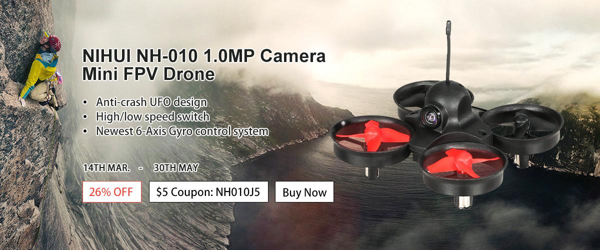 NIHUI NH-010 1.0MP Camera Mini FPV Drone