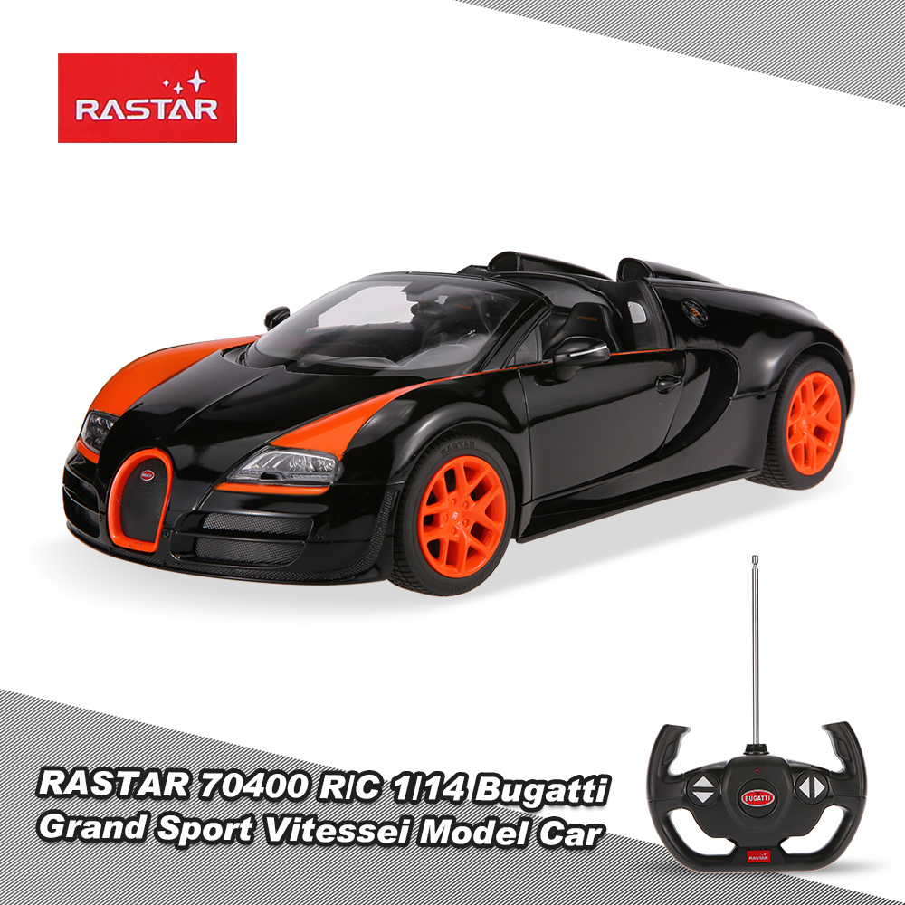 black rastar 70400 27mhz r c 1 14 bugatti grand sport vitessei radio remote control model car. Black Bedroom Furniture Sets. Home Design Ideas