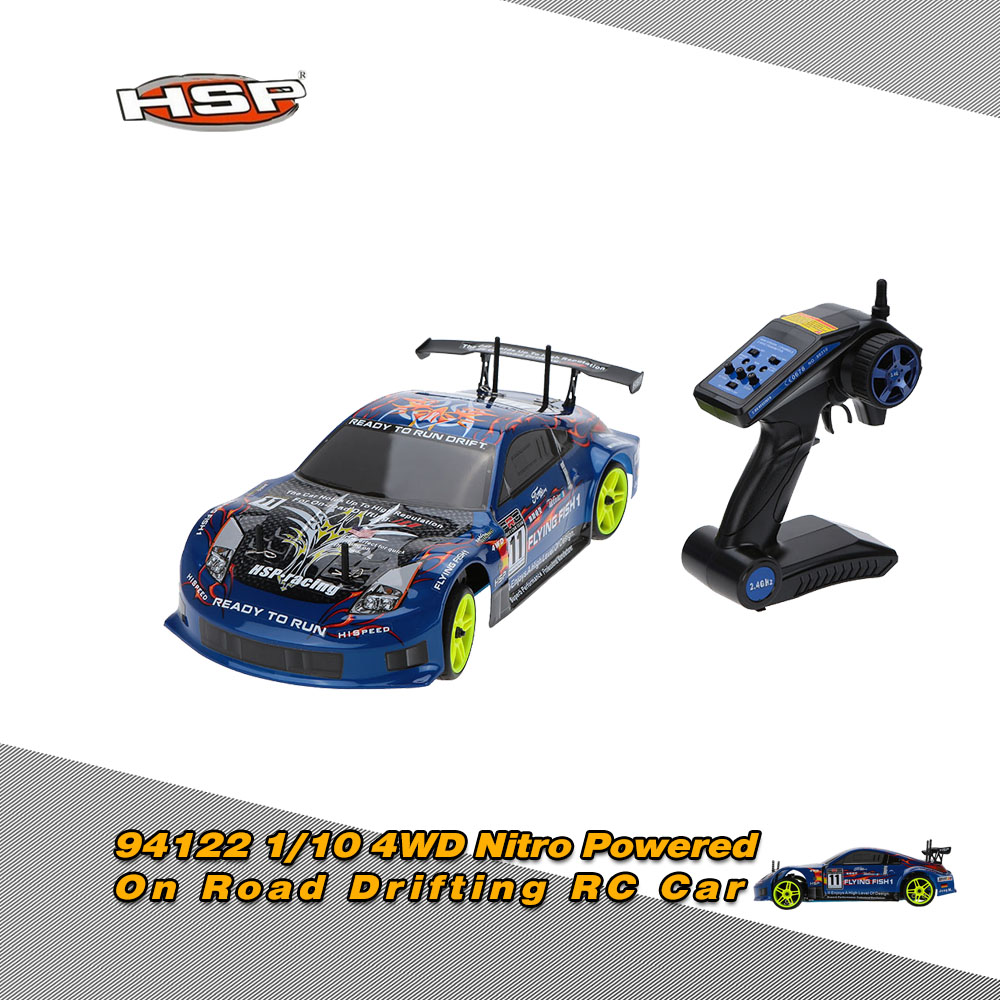 Original HSP 94122 1/10 4WD Nitro Powered On Road Drifting RTR RC Car