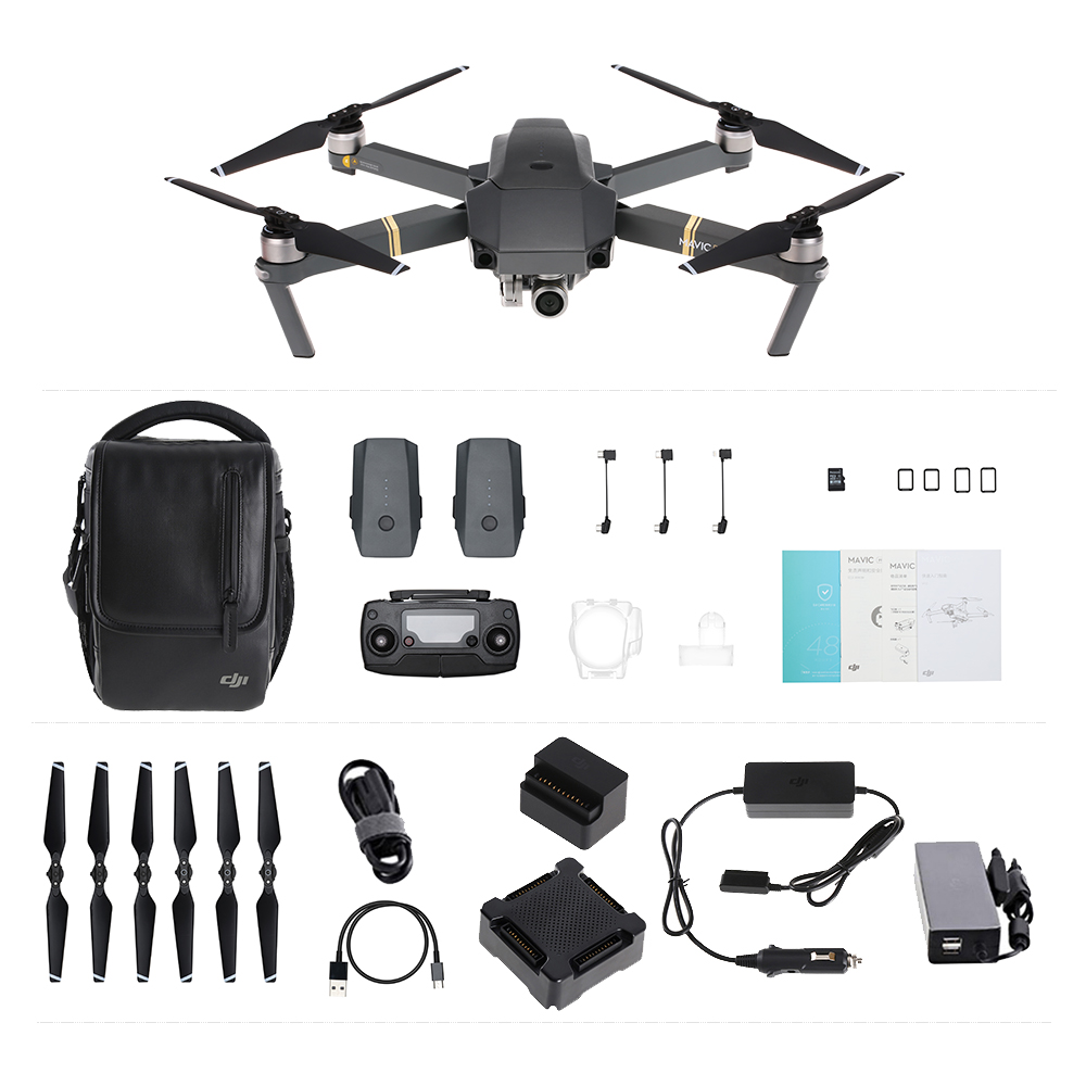 $100 off for DJI Mavic Pro 4K FPV RC Drone with two extra batteries USD$1299.99