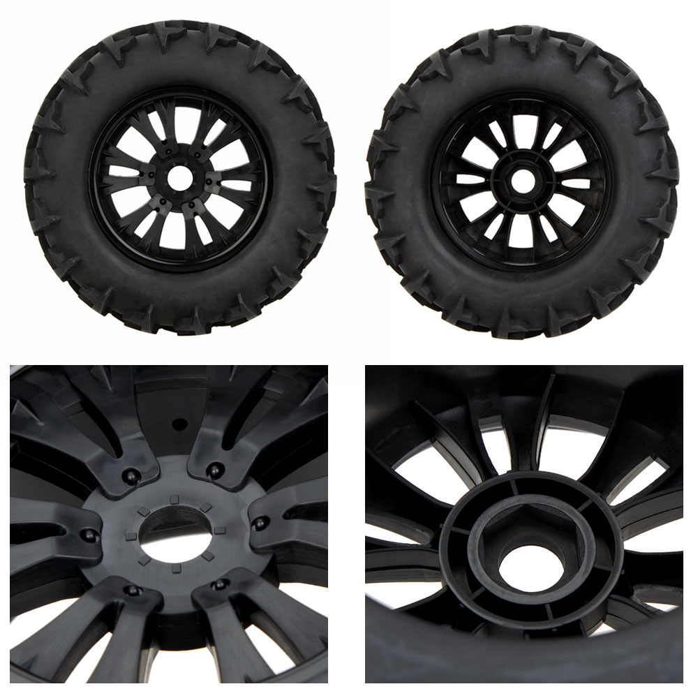 GoolRC 2Pcs RC 1/8 Monster Car Wheel Rim And Tire 810006