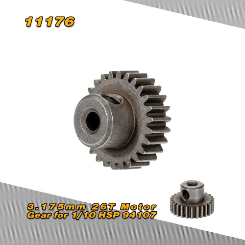 11176 3.175mm 26T Motor Gear for 1/10 HSP 94107 94170 4WD Electric Off-Road Buggy
