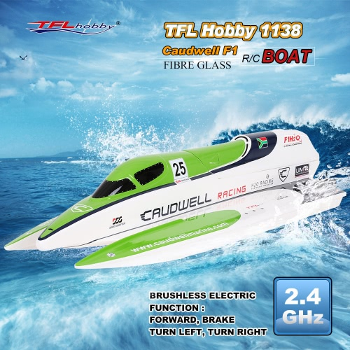 Buy TFL Hobby 1138 Caudwell F1 2.4G Racing Brushless Electric Water Cooling Speedboat Fibre Glass RC Boat