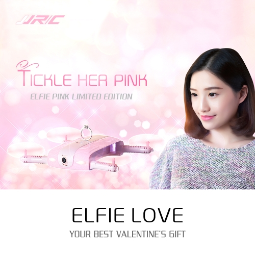 Buy Special Gift Valentine's Day: PINK JJRC H37 6-Axis Gyro ELFIE WIFI FPV 2.0MP Camera Quadcopter Foldable G-sensor Mini RC Selfie Drone