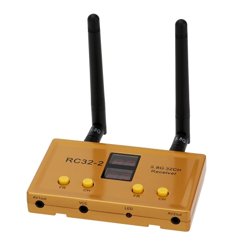 RC32-2 58G 32CH Weirless Dual Channel AV Receiver for FPV Aerial Photography 11281