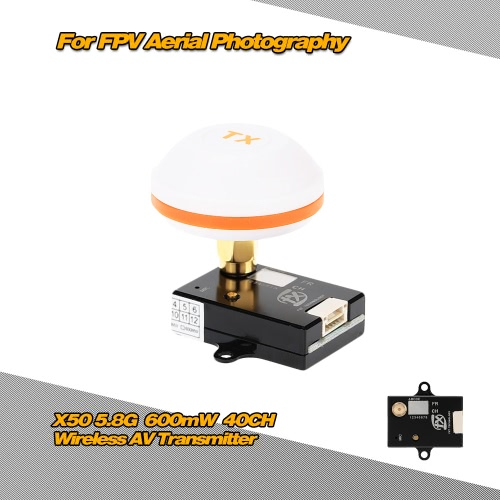 Buy X50-6 5.8G 600mW 40CH Wireless AV Transmitter FPV Aerial Photography