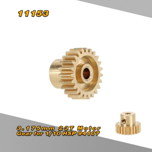 11153 3.175mm 23T Motor Gear for 1/10 HSP 94107 4WD Electric Off-Road Buggy