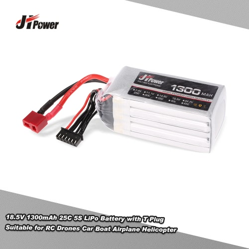 Buy JHpower 18.5V 1300mAh 25C 5S LiPo Battery T Plug RC Drones Car Boat Airplane Helicopter