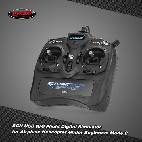 Buy Original Dynam 8CH USB R/C Flight Digital Simulator Airplane Helicopter Glider Beginners Mode 2