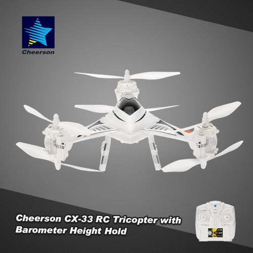 Buy Cheerson CX-33 3-Axis Tricopter Drone 2.4G 4CH 6-Axis Gyro RC Quadcopter RTF Altitude Hold Function