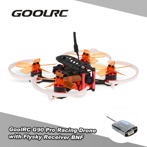 Buy GoolRC G90 Pro 90mm 5.8G 48CH Micro FPV Racing Drone Brushless Motor Quadcopter Flysky Receiver F3 Flight Controller BNF