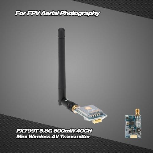 Buy FX799T-6 5.8G 600mW 40CH Mini Wireless AV Transmitter 5V Output FPV Aerial Photography