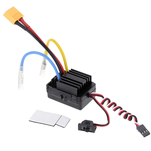 Buy Original Hobbywing WP-1040-BRUSHED 60A Waterproof Brushed ESC Electronic Speed Controller 6V/2A BEC 1/10 RC Car