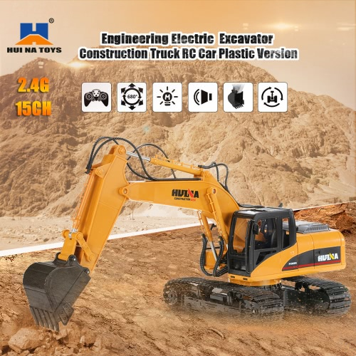 Buy HUI NA TOYS 2.4GHz 15CH Engineering Electric Excavator Construction Truck Plastic RC Car