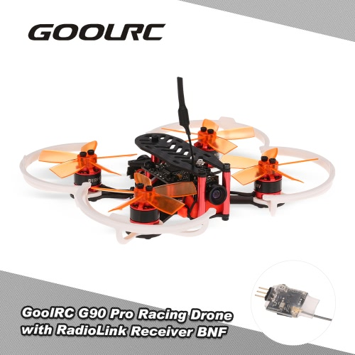 Buy GoolRC G90 Pro 90mm 5.8G 48CH Micro FPV Racing Drone Brushless Motor Quadcopter RadioLink Receiver F3 Flight Controller BNF