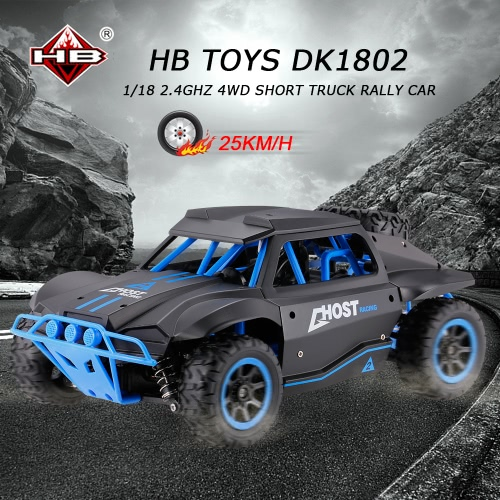 Buy HB TOYS DK1802 1/18 2.4GHz 4WD High Speed Short Truck Off-road Racing Rally Car RTR