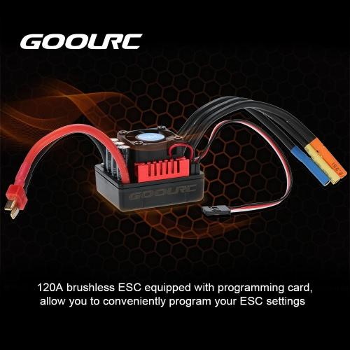 Buy GoolRC S-120A Brushless ESC 6.1V/3A SBEC & Programming Card 1/8 RC Car