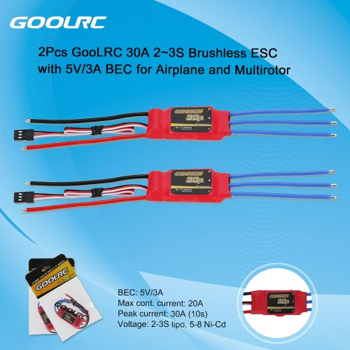 Buy GoolRC 30A 2~3S Brushless Simonk ESC Electronic Speed Controller 5V/3A BEC DJI F450 F550 Quadcopter