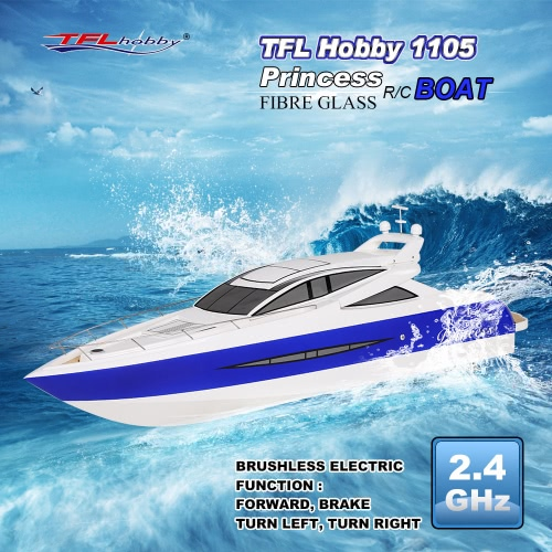 Buy TFL Hobby 1105 Princess 2.4G Brushless Electric Water Cooling Speedboat Fibre Glass RC Boat