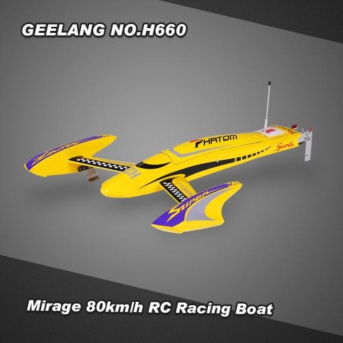 Buy Original GEELANG NO.H660 Mirage High Speed 80km/h Electric Brushless RC Racing Boat