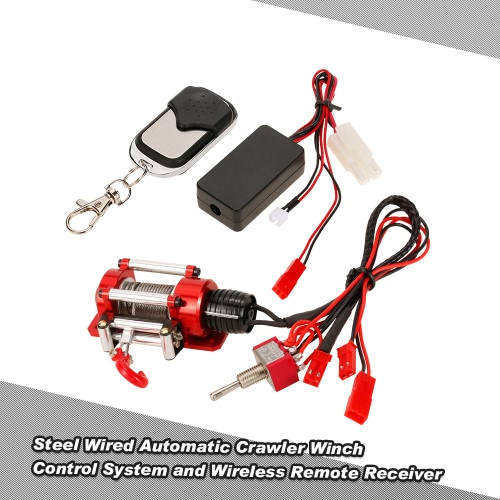 Buy 1/10 RC Rock Crawler Steel Wired Automatic Winch Control System Wireless Remote Receiver Traxxas HSP Redcat HPI TAMIYA CC01 Axial SCX10 RC4WD D90