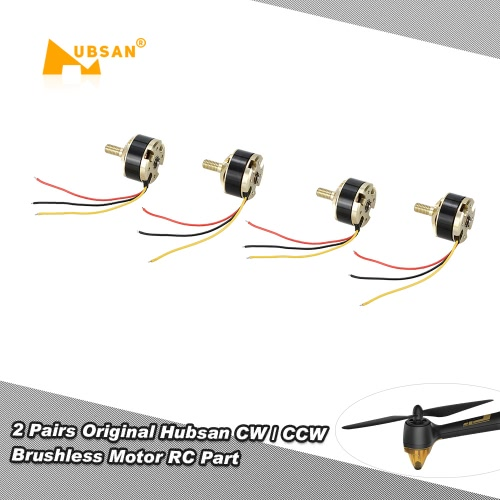 Buy 2 Pairs Original Hubsan CW / CCW Brushless Motor H501S-07 H501S-08 RC Part H501S Quadcopter