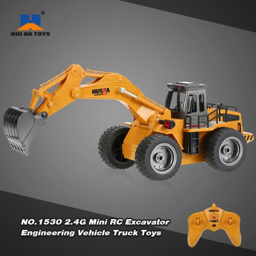 Buy HUI NA TOYS NO.1530 2.4G 6CH Mini RC Excavator Engineering Vehicle Truck Toys Children