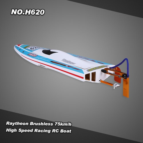 Buy NO.H620 Raytheon Brushless RC Racing Boat 75km/h High Speed PNP Version Servo ESC Motor