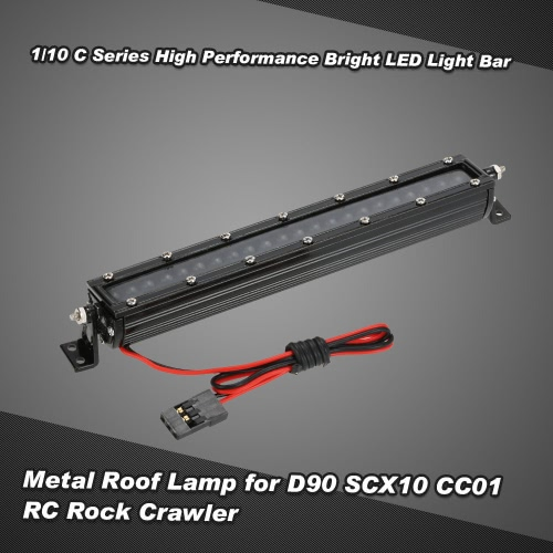 Buy 1/10 C Series High Performance Bright LED Light Bar Metal Roof Lamp HSP RC4WD Axial D90 SCX10 Traxxas TAMIYA CC01 RC Rock Crawler