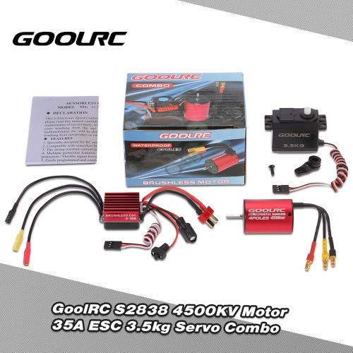 Buy GoolRC S2838 4500KV Brushless Motor 35A ESC 3.5kg Servo Combo Set 1/12 1/14 RC Car