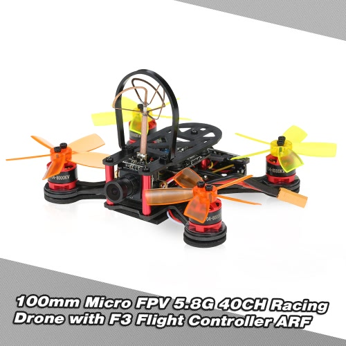 Buy FX100 100mm Micro FPV Racing Drone 5.8G 40CH 800TVL D1104 Brushless Motor RC Quadcopter F3 Flight Controller ARF