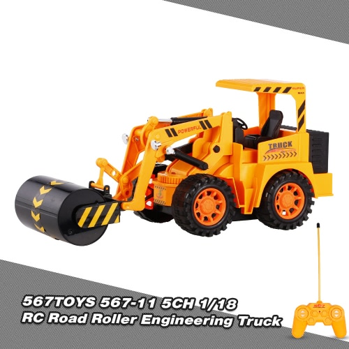 Buy 567TOYS 567-11 1/18 5CH RC Road Roller Engineering Truck Car