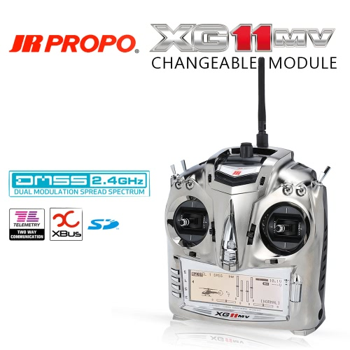 Buy Original JR PROPO XG11MV 2.4GHz 11 Channel DMSS Transmitter Mode 2 & RG812BX 8CH Receiver X.BUS System RC Quadcopter Multicopter Helicopter Glider