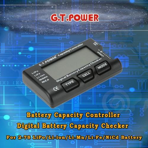 Buy G.T.POWER Battery Capacity Controller Digital Checker 2-7S LiPo/Li-ion/Li-Mn/Li-Fe/NiCd