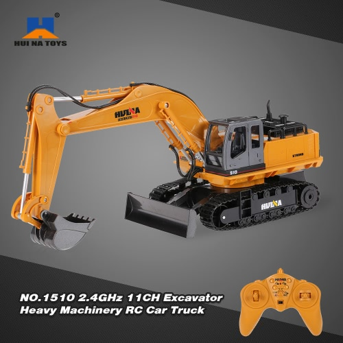 Buy HUI NA TOYS NO.1510 Alloy Engineering Electronic Excavator Heavy Machinery 2.4GHz 11CH RC Toys Car Truck