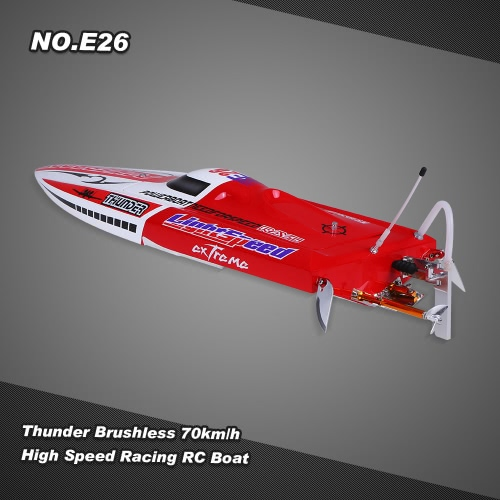 Buy NO.E26 Thunder Brushless Racing RC Boat 70km/h High Speed PNP Version Servo ESC Motor