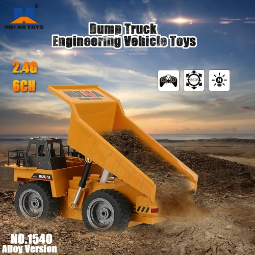 Buy HUI NA TOYS NO.1540 2.4G 6CH Alloy Dump Truck Construction Engineering Vehicle Toy Gift