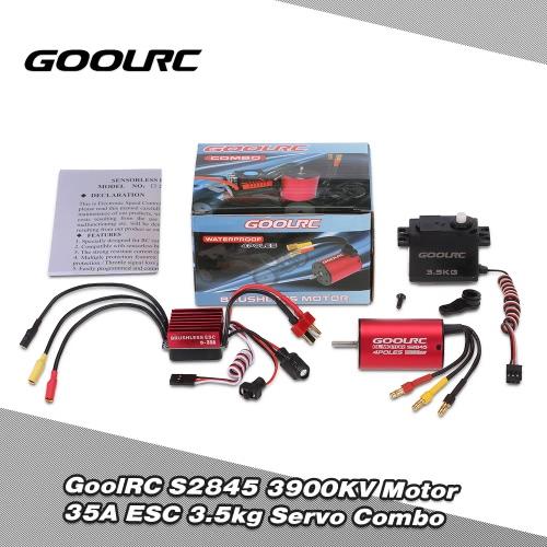 Buy GoolRC S2845 3900KV Brushless Motor 35A ESC 3.5kg Servo Combo Set 1/12 1/14 RC Car