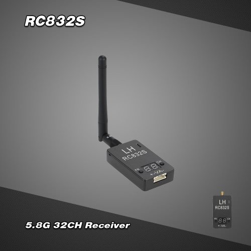 RC832S Upgraded Version 5.8G 32CH Wireless Image Transmission Receiver for FPV Aerial Photogaraphy