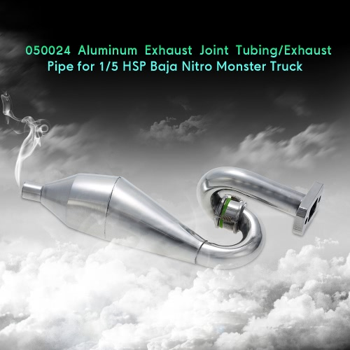 050024 Aluminum Exhaust Joint Tubing/Exhaust Pipe for 1/5 HSP 94050 Nitro Monster Truck