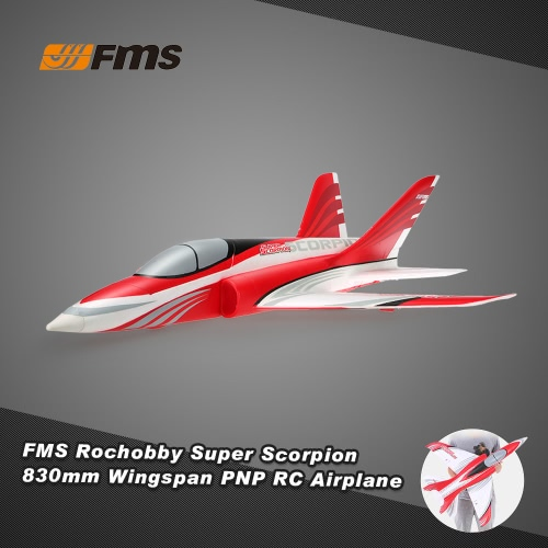 Buy Original FMS Rochobby Super Scorpion 70MM Ducted Fan EDF 830mm Wingspan EPO Fixed-wing Aircraft PNP Version RC Airplane(with ESC, Motor, Servo)