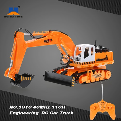 Buy HUI NA TOYS NO.1310 Engineering Electric Excavator Heavy Machinery 40MHz 11CH RC Toy Car Truck