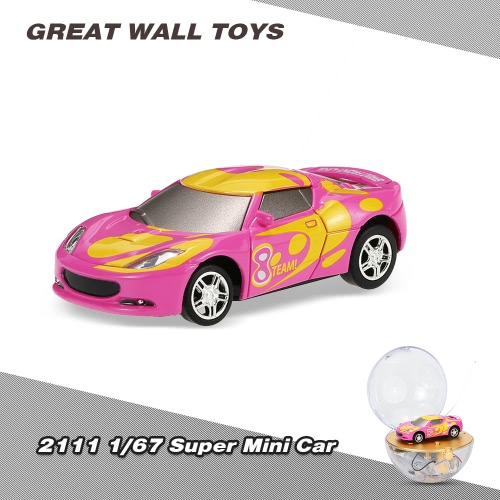 Buy GREAT WALL TOYS 2111 1/67 Super Mini RC Car Magnifier Sphere Package Collection Toys Vehicle Kids