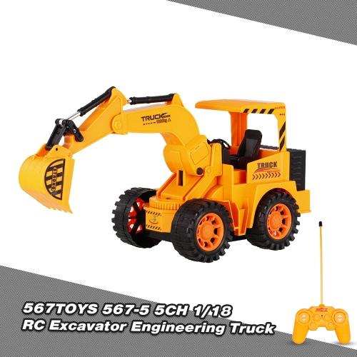 Buy 567TOYS 567-5 1/18 5CH RC Excavator Engineering Truck Car