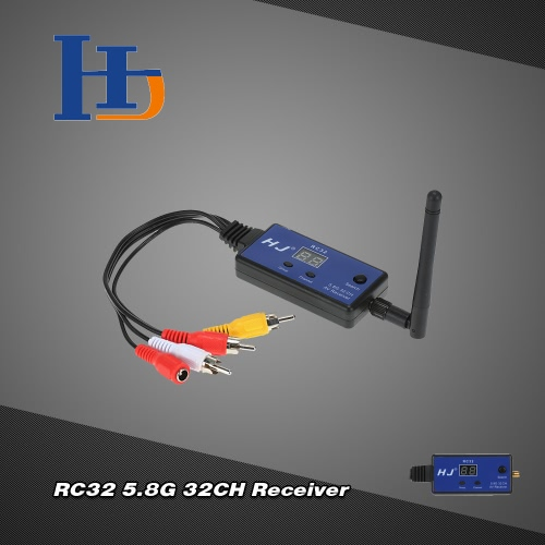 Buy HJ RC32 5.8G 32CH AV Wireless Image Transmission Receiver FPV Aerial Photography