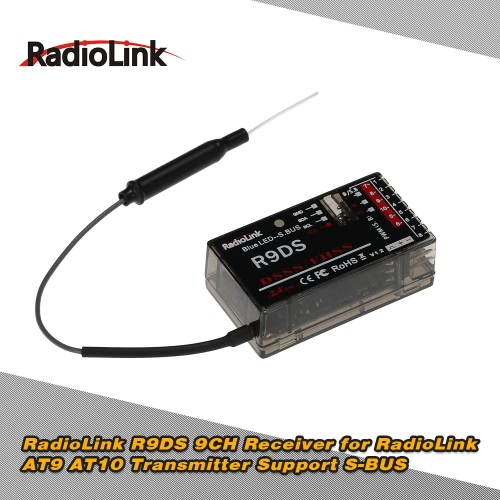 Buy Original RadioLink R9DS 2.4G 9CH DSSS & FHSS Receiver AT9 AT10 Transmitter RC Helicopter Multirotor Support S-BUS