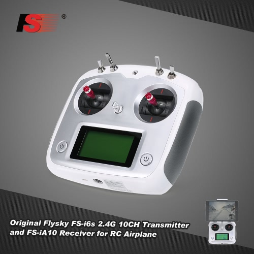 Buy Original Flysky FS-i6s 2.4G 10CH AFHDS 2A Touchscreen Transmitter FS-iA10 Receiver Phone Bracket RC Airplane Multicopter Helicopter