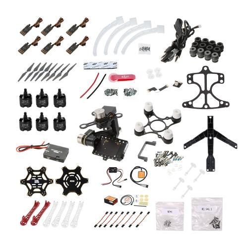 Buy Original DJI Flame Wheel F550 ARF Quadcopter Frame KIT Naza-M V2 Landing Skid Mounting Adapter Zenmuse H3-3D 3-axis Gimbal(Standard)