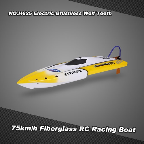 Buy NO.H625 Wolf Teeth 75km/h High Speed Electric Brushless Fiberglass RC Racing Boat